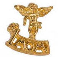 Mom, Grandma, Best Friends Angel Pins Gold