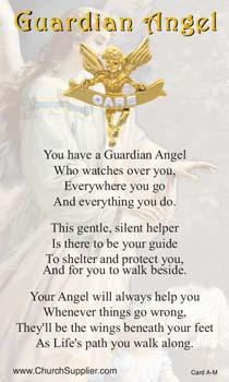 Care Angel Lapel Pin Card