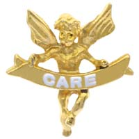 Care Angel Lapel Pin Gold