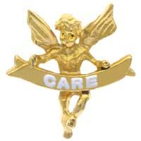 Care Angel Lapel Pin Gold