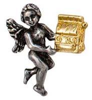 Slot Machine Gambler Angel Pin