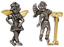 10 Occupational Angel Lapel Pins Men & Women