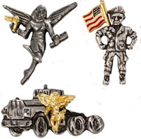 10 Occupational Angel Lapel Pins Hairdresser to Driver