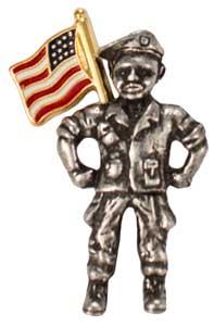 Military Angel Pin