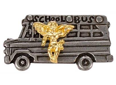 School Bus Angel Pin