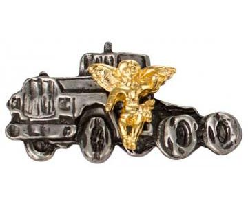 truck driver Angel Pin pewter