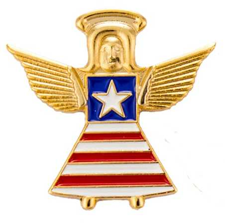 USA Guardian Angel Flag with Star Pin