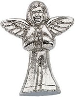 14 Karat Gold Praying Angel Pin