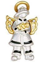 Firefighter Angel Wings & Wishes Pin