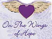 Love Angel Wings Purple Heart Pin