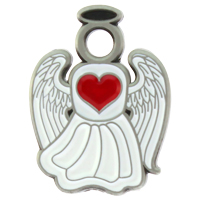 Angel Pin Medical Caring Heart -  Carded