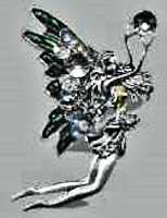 Fairy Angel Pin with Rhinestones