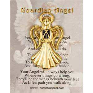 Singing Guardian Angel Pin and Card