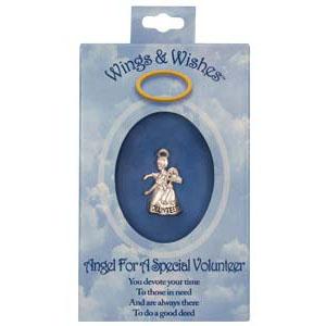 Volunteer Guardian Angel Pin Silver boxed