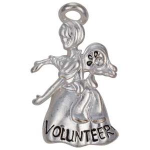 Volunteer Angel Pin Silver