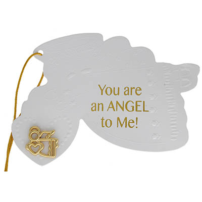 Angel Gift Tag With Gold Angel Pin - You are a Angel