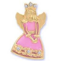 Princess Angel Pin Pink Gold