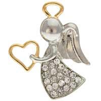 Rhinestone Appreciation Angel Pin