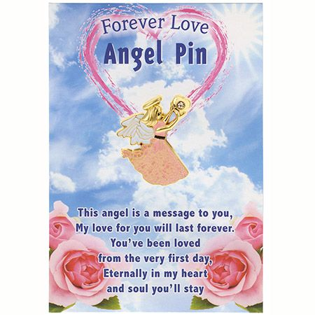 Forever Mine Lover Angel Pin Gold  - card