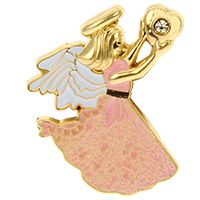 Forever Mine Love Angel Pin Gold, Silver