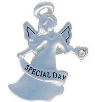 Special Day Angel Pin Silver Anniversary Angel