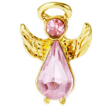 Breast Cancer Pink Angel Pin