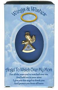 Mom Angel Pin Gold Box