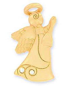 Angel of Inspiration Faith Gold Pin, Praying