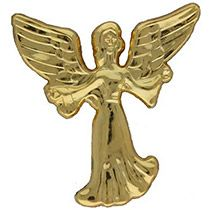 Protecting Guardian Angel Pin Outstretched Arms Gold
