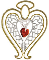 Healing Angel Lapel Pin, Wings and Wishes