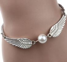 Silver Angel Wings Bracelet or Anklet