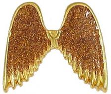 Silver or Gold Glitter Angel Wings Pins