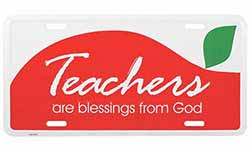 Teachers Are Blessings License Plate