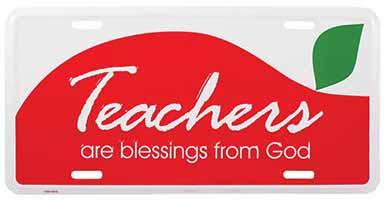 Teachers Are Blessings License Plate