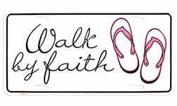 Walk by Faith License Plate