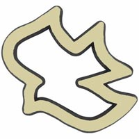 Gold Dove Auto Emblem.Great witnessing tool! Durable plastic 3 dimensional adhesive backed. 2 1/4 x 2 1/2