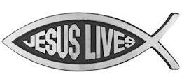 Jesus Lives Fish Auto Emblem