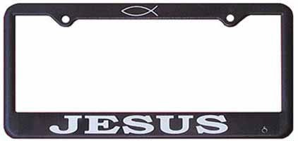 Jesus Auto License Plate Frame