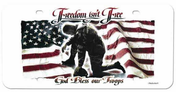 Freedom Isn't Free USA License Plate