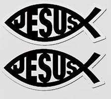 Jesus Fish Auto Magnet Signs (2)