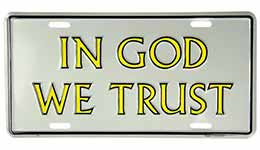 In God We Trust Auto License Plate