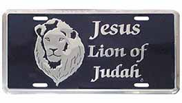Jesus Lion of Judah License Plate