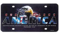 God Bless America License Plate