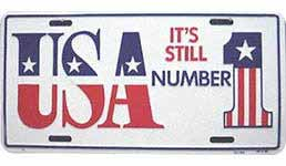 USA Its Still #1 Auto License Plate