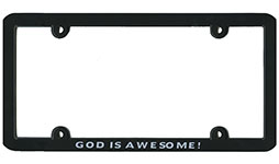 God is Awesome Plate Frame