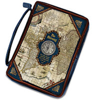 Nautical Map Bible Cover