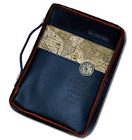 Nautical Map & Compass Bible Cover