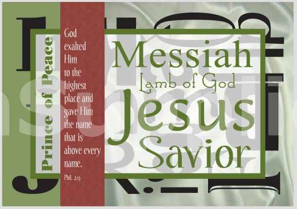 Name Of Jesus on Stretched Canvas