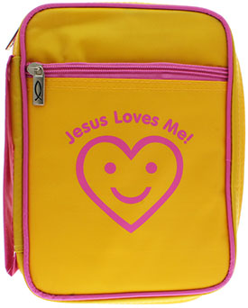 Jesus Loves Me Yellow Bible Cover