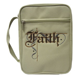 Faith Embroidered Bible Cover